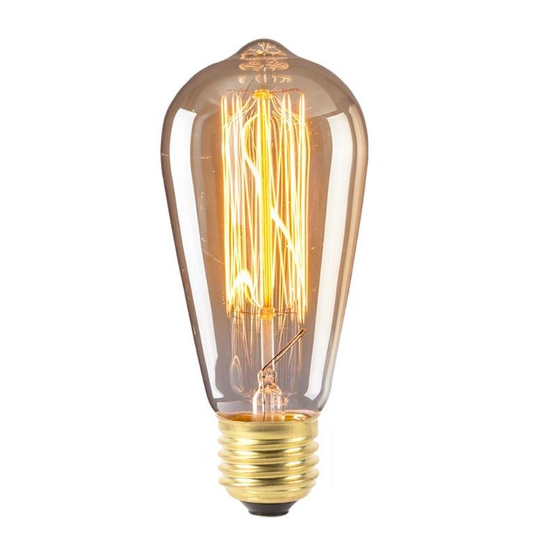 1 Stücke Retro Lampe St58 40 Watt E27 Warme Weiß Retro Dimmbare Dekorative Glühlampen Vintage Edison Glühbirne Für Zuhause /wohnzimmer Zu Verkaufen