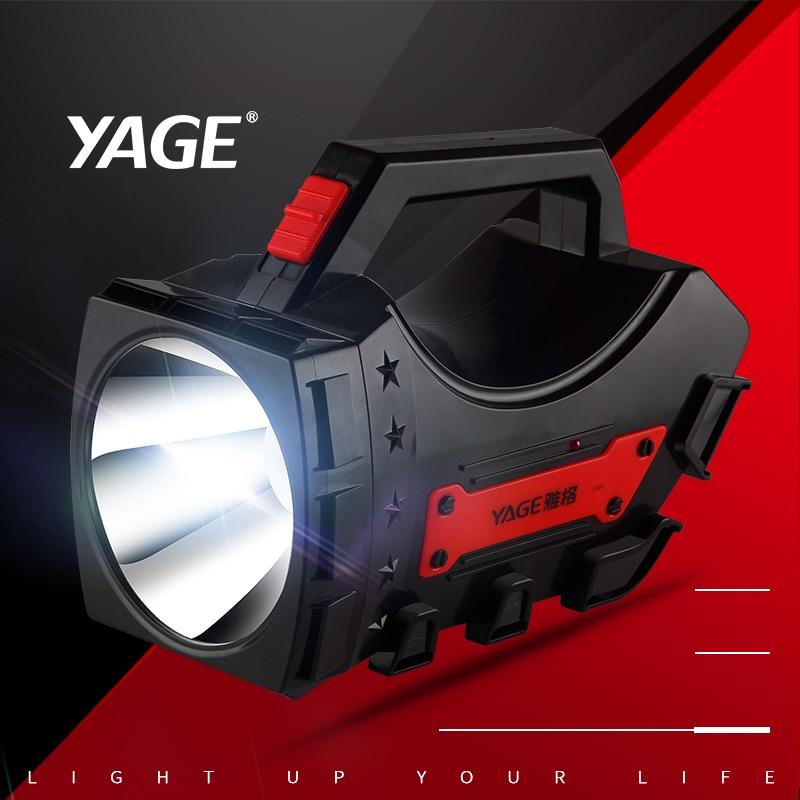 YAGE CREE портативный светодиодные прожекторы фонарик Huntight портативный прожектор ручной прожектор 4000 мАч ...
