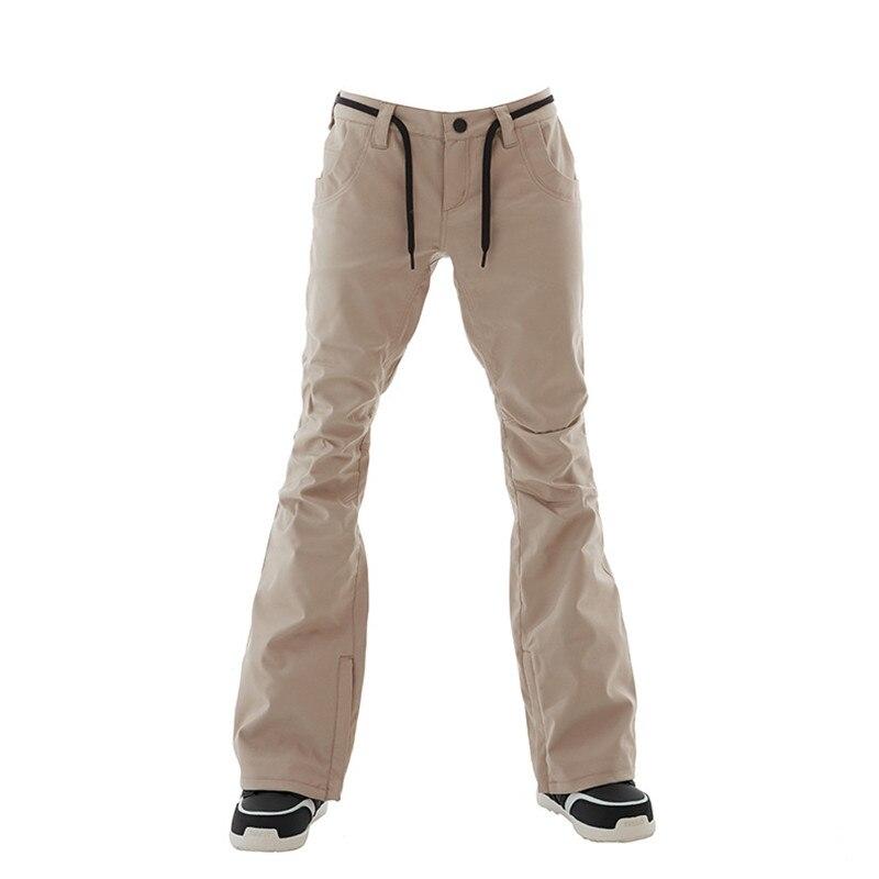 GSOU pantalon de Ski de neige femmes snowboard hiver extérieur coupe-vent pantalon de Ski nouveau chaud respirant plus épais coton de haute qualité - 2