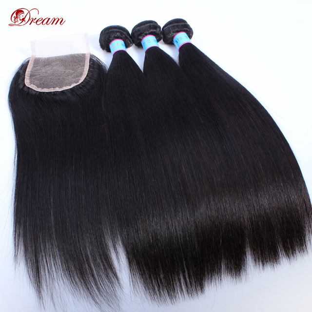Lace Frontal Closure With Brazilian Hair Weave Bundles Straight Virgin Hair Bundle Deals With Lace Closure Human Hair Bundles