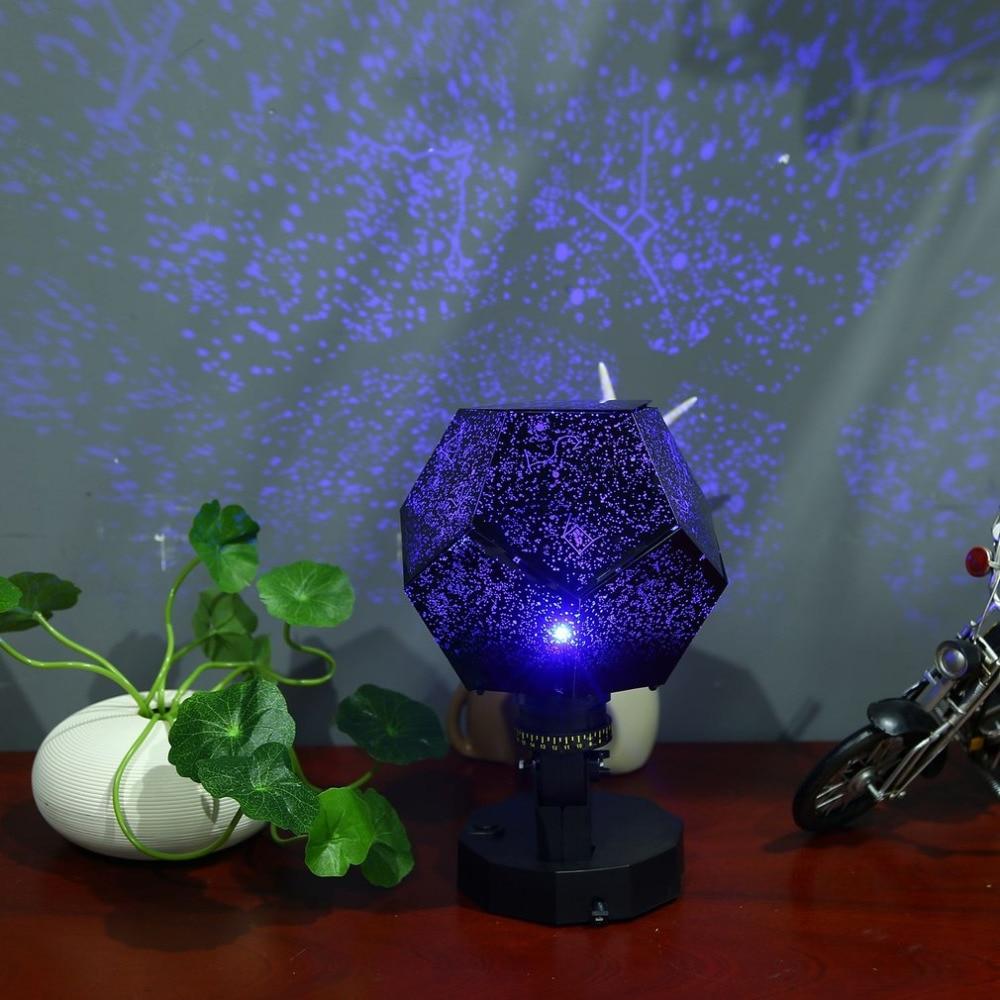 Drop Ship LED Celestial Star Cosmos Starry Sky Night Lamp Romantic Projector Light Four Seasons Projection Blue/Purple Lights