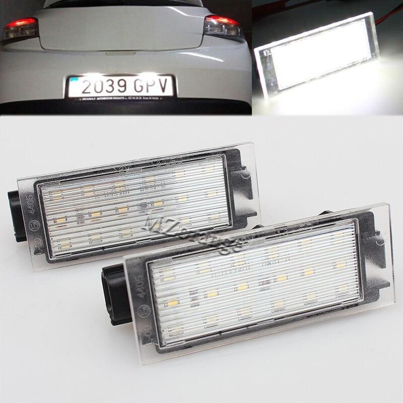 2 stücke Fehler Freies 12 v SMD 18LED Auto LED Kennzeichen Licht ...