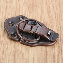 Toggle Latch Vintage Lock Iron Jewelry Chest Box Gift Box Suitcase Case Buckles Toggle Hasp Latch Catch Clasp Red Bronze 68x38mm 10pcs 43 21mm white duck mouth buckle vintage mini lock chest box gift box suitcase case buckles toggle hasp latch catch clasp