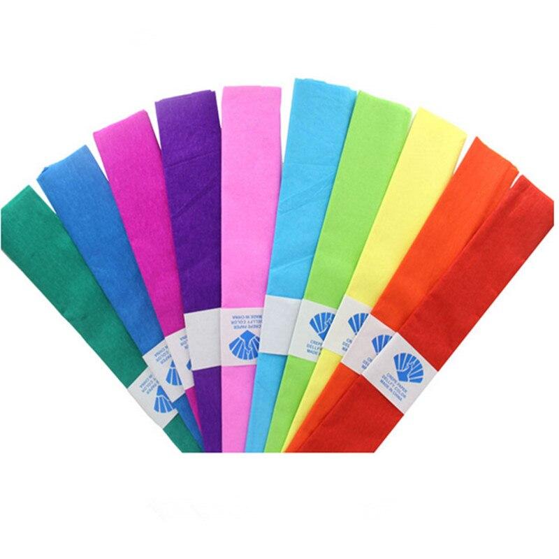 unidslote cm rollo de papel crep de color para diy