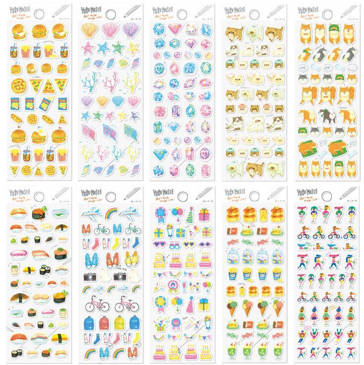 Q-lia YURU Kind Of Groceries Cartoon Decorative Stickers Adhesive Stickers Scrapbooking DIY Decoration Diary Stickers