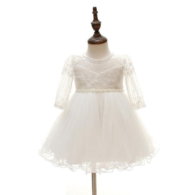 9a69bad8b7bc Baby Girl Long Sleeved Formal Dresses Infant Princess 1 Year ...
