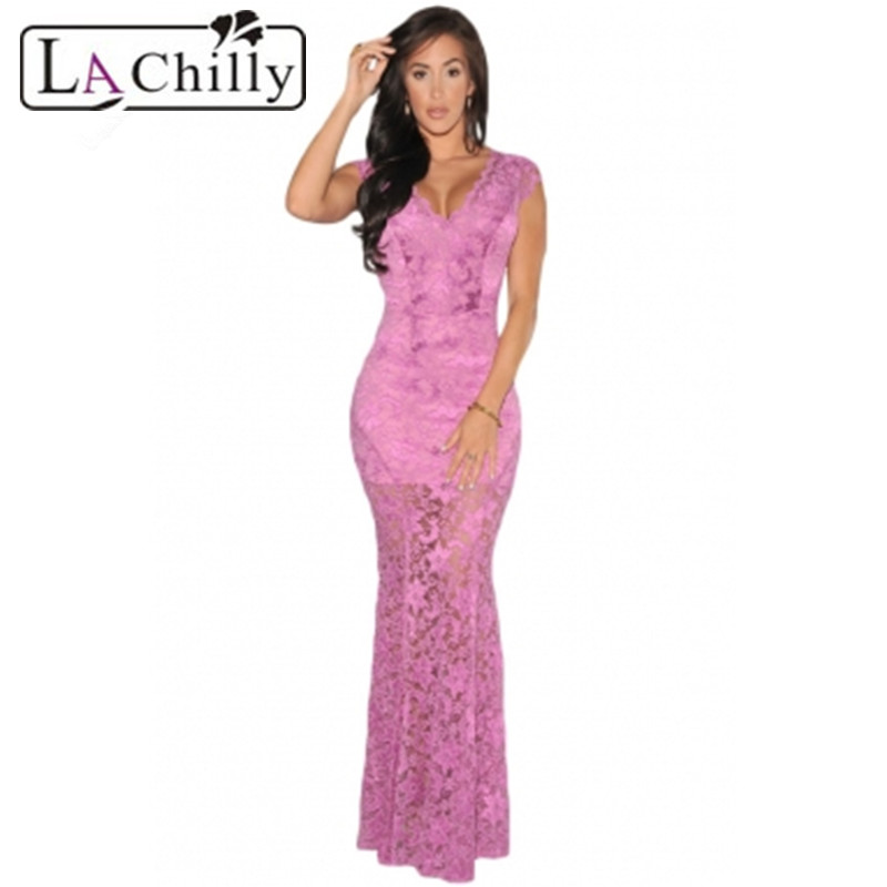 Comprar ahora La Chilly 2018 LACE nude Illusion partido LC6676 largo ...