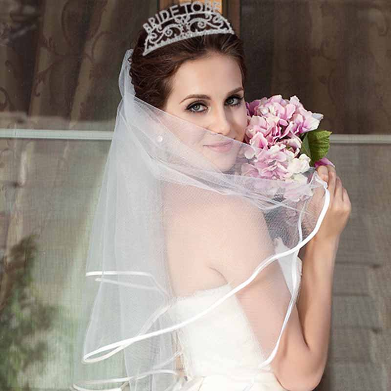 Bride to be Tiara Crown Veil Bachelorette Hen Party Bridal Shower marriage wedding Engagement Decoration Accessory gift favor