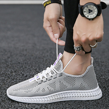 цена на 2019 spring and summer fashion men's casual shoes breathable sports shoes men's flying woven shoes