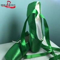 Kids 'Sneakers Bale Profesyonel Saten Pointe Şerit Bağları Ayakkabı KıRMıZı/PEMBE/MOR/YEŞIL/MAVI/Kırmızı ayakkabı