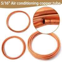 5/16 Inch Diameter 3/4/6/10m Soft Coil Brass Tube Hose Air Conditioner Copper Pipe Refrigerant Gas Copper DIY Cooling