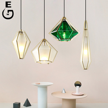 Modern Nordic Pendant Lamps Metal & Acrylic Lampshade Lights Kitchen Hanging Lamp E14 Lighting
