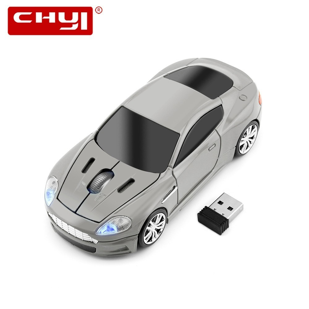 Mouse ottico wireless USB Mause 2.4G USB Receiver Super Sports Car Gaming Mouse Gamer per PC Laptop Computer Mouse Spedizione gratuita