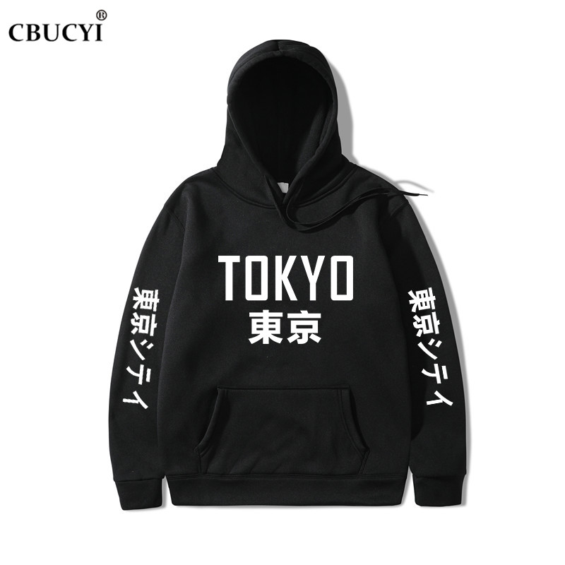 2019 neue Ankunft Japan Harajuku Hoodies Tokyo Stadt Druck Pullover Sweatshirt Hip Hop Streetwear Männer/Frauen Mit Kapuze Sweatshir