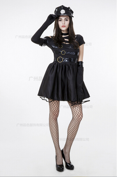 free shipping Movie role playing The handsome women   cosplay costume  black M-XL