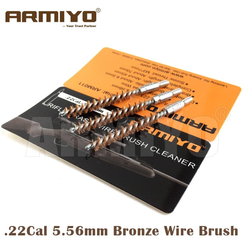 Armiyo Brush .22Cal 5.56mm Hunting Rifle Bore Cleaning Brush Gun Barrel Cleaner Shooting Accessories Screw Thread Size M4 8-32