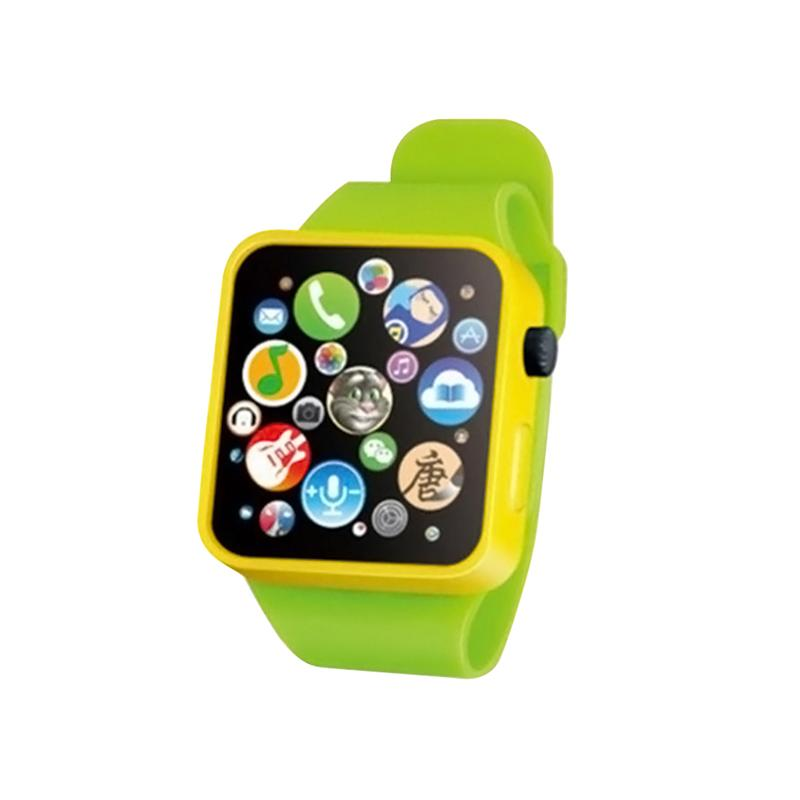 Kids Toy Educational Smart Wrist Watch Multifunction Learning Touch Screen Games Antistress Fun Gadgets Novelty Toys (Green)