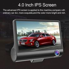 4 inch HD 1080P Three Lens Car Dash Camera Night Vision Cam Video Driving Recorder