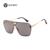 AOUBOU Uma Marca Original Matizadas Espelho Lente Óculos De Sol Dos Homens Liga de Grandes Dimensões Do Vintage Óculos de Sol Para As Mulheres Gafas Do Sol 7104