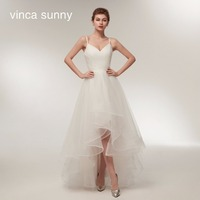 Spaghetti Strap Beach Wedding Dresses 2018 Vestido Noiva Praia Simple White Tulle Casamento Sashes Bridal Gown