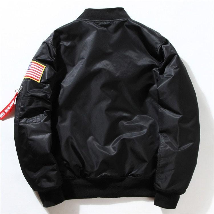Men Bomber Jackets Flight Pilot Jacket Coat Nasa Air Force Embroidery Baseball Uniform Military Style Coats Army Green Black (5)