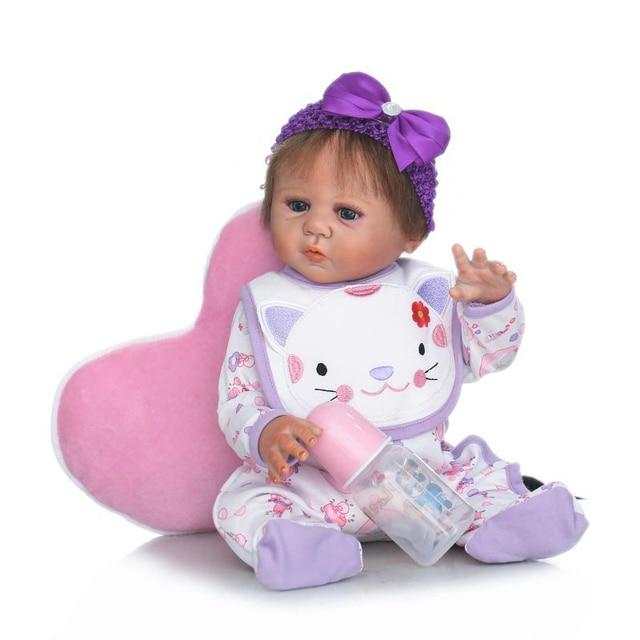 New 50cm New Born Baby Dolls Baby Reborn Children Best Gift Silicone Reborn Baby Dolls for Kids Handmade Princess Bonecas Toys