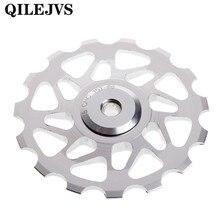 QILEJVS задний переключатель передач велосипедный шкив велосипед Горный Дорожный велосипед герметичные подшипники 15 т шкив колеса whee