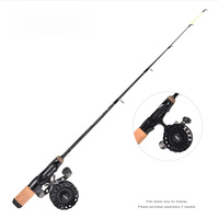 48cm 64cm 71cm one piece flat body ice fishing rod single section flat slightly rafting rod Russian triton fishing rod