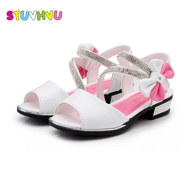 Sandals Party-Shoes Rhinestones Girls Kids Princess Pink/blue Fashion Summer Rubber