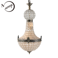 Retro Europe Art deco Glass Crystal LED Lamp Modern Empire Chandelier 2 sizes Lustres Lights G9 For parlor bedroom lobby hotel