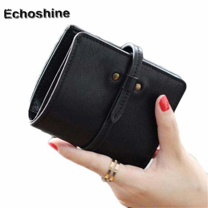 Women's Purses 2018 new fashion Women Ultrathin Mini Bifold Leather Wallets Purse Coin Purse Women Card Holder Wallet A2000