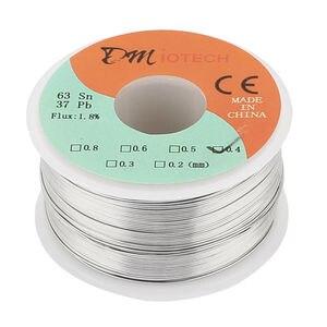 Spawania szpula drutu żelaznego 150g FLUX 1.8% 0.4mm 63/37 cyny linka ołowiana rdzeń żywiczny topnik lutowniczy drut lutowniczy