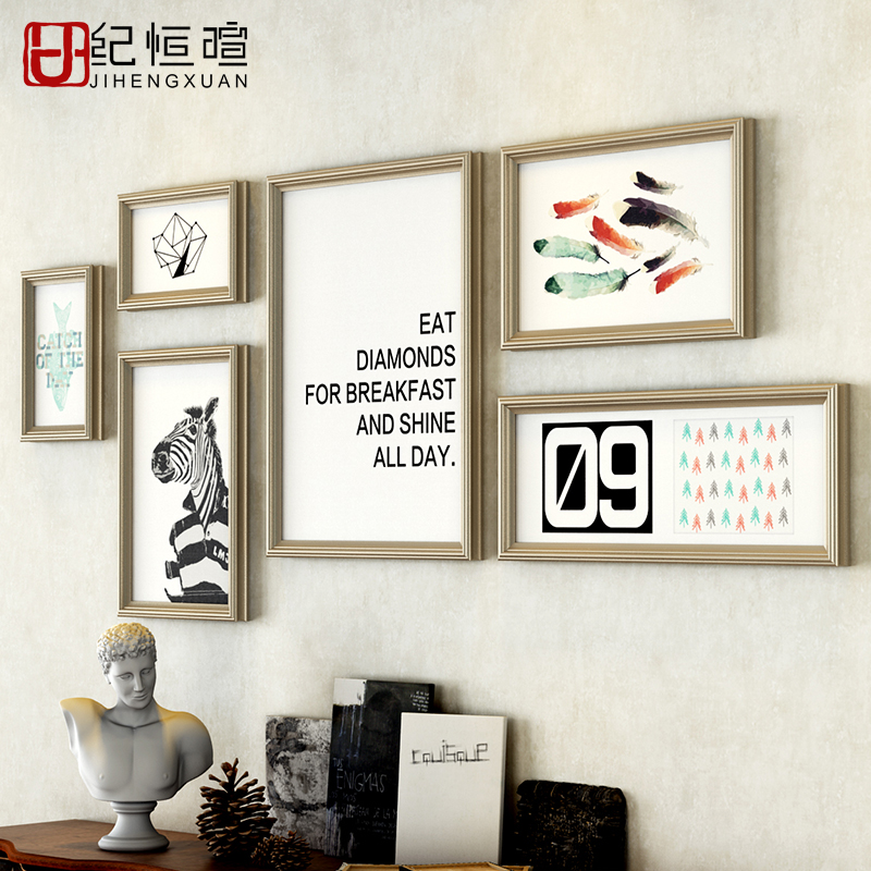 Aliexpress.com : Buy Simple Style Wall Photo Frame Suit Lovely Party ...