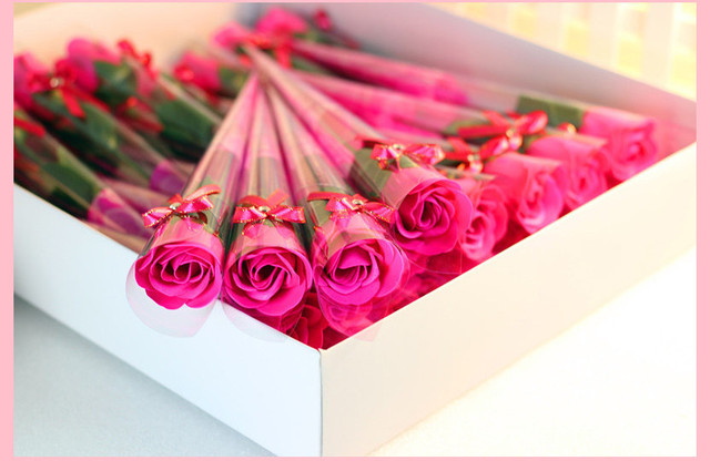 30pcs gift simulation roses soap flower wholesale valentines day, Ideas