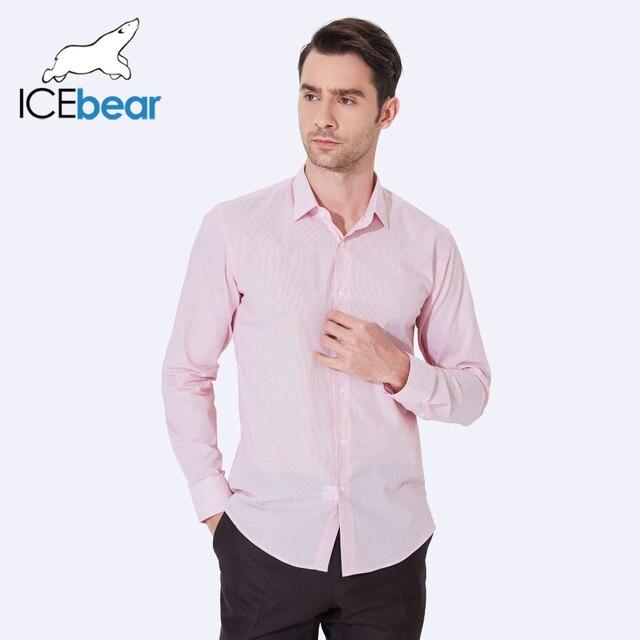 ICEbear 2017 Лето классическая полосатая немнущаяся рубашка мужчины бизнес формальные рубашки для мужчин повседневная рубашка удобная одежда CA100D