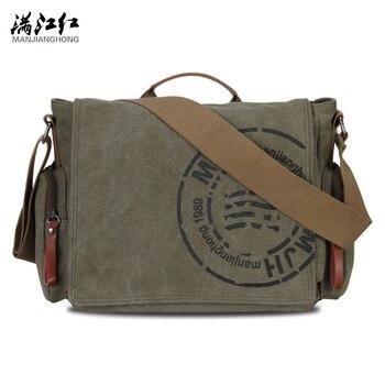 Men's Messenger Bags Canvas Shoulder Bag Fashion Men Business Crossbody Bag Printing Travel Handbag