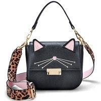 Original Design Cute Cat Bags Women Handbag Fashion Cat Costume Shopper Bag Black Leather Messenger Bags