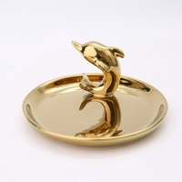 Golden dolphin jewelry Storage Jewelry ring tray soft outfit home furnishing articles