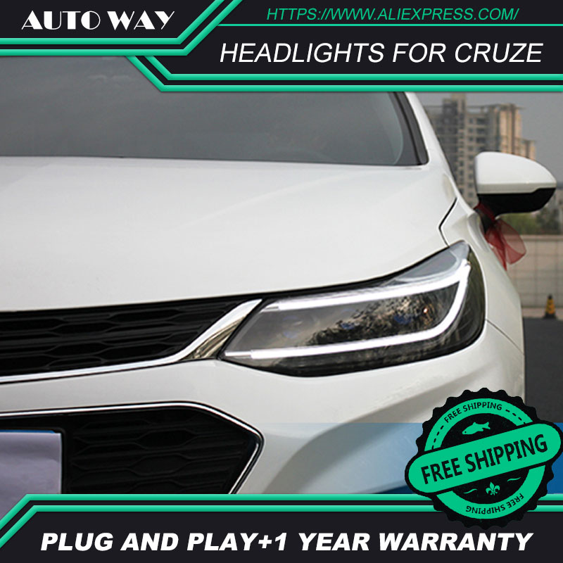 Car Styling HID LED phares phares HID Hernie lampe accessoire Phares cas pour Chevrolet Cruze 2017 2018 Car styling