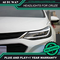 Car Styling HID LED Headlight Headlamps HID Hernia Lamp Accessory Headlights Case For Chevrolet Cruze 2017