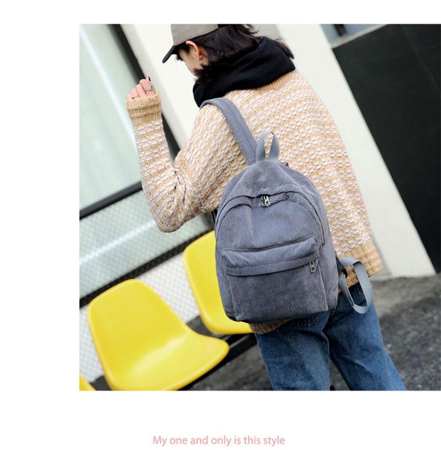 HTB1HYCee93PL1JjSZFtq6AlRVXaE Women Backpack Youth Small Solid Casual Backpacks Students School Bag Teenage Girls Vintage Laptop Bags Rucksack Mochila