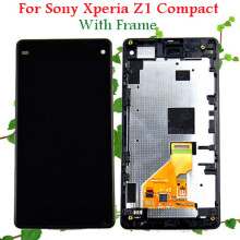 Replacement Repair Parts For Sony Xperia Z1 Compact D5503 LCD Display Touch Screen Digitizer Assembly With Frame White Black