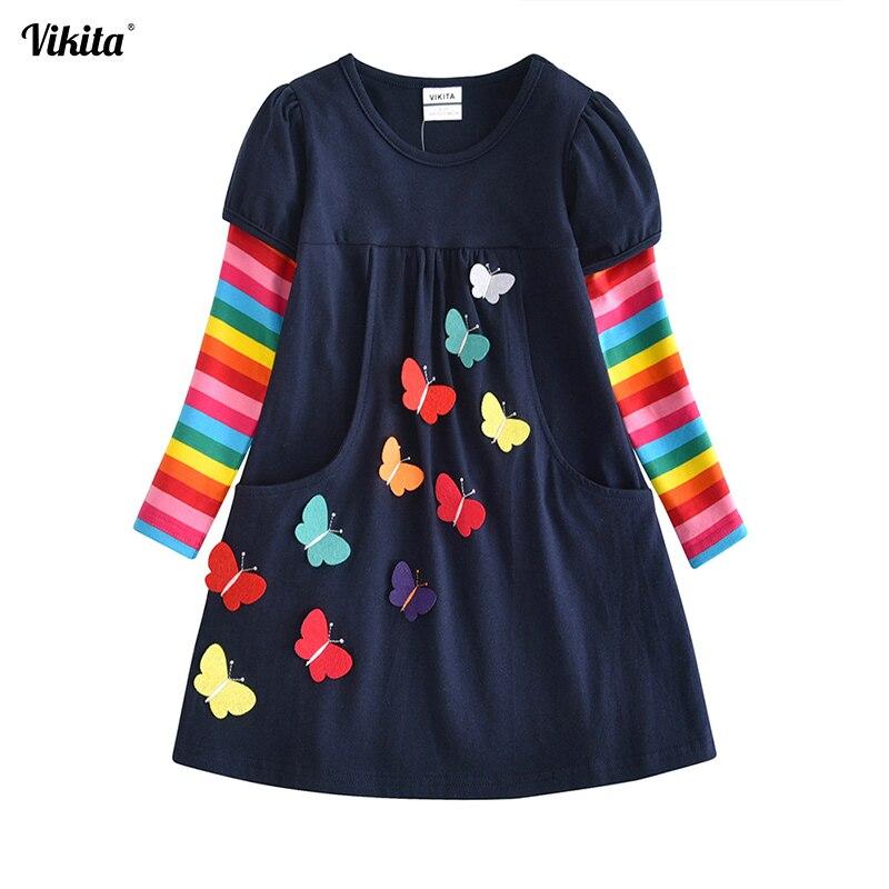 VIKITA niños niñas vestido bebé niños niño princesa vestido Vestidos ropa infantil niñas invierno Vestidos 2-8Y LH5805 MIX