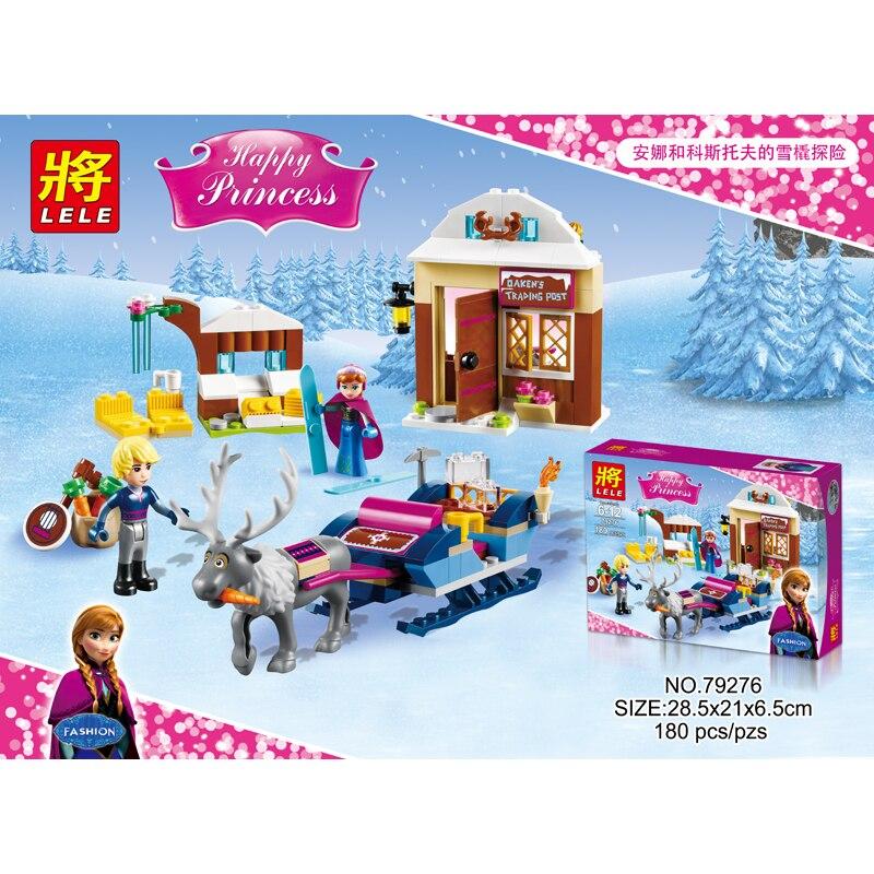 Lepin new brand Anna Kristoff s Sleigh Adventure Princess Series Building Block Minifigure Girls Toy Compatible