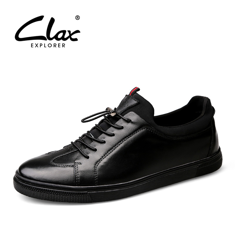 CLAX Men Casual Shoes Genuine Leather Autumn Shoe Male Leather Shoe British Walking Footwear Fashion Leisure Shoe Large Sizes top quality brand slip on autumn new fashion genuine leather men casual shoes male footwear british comfortable sapato masculino