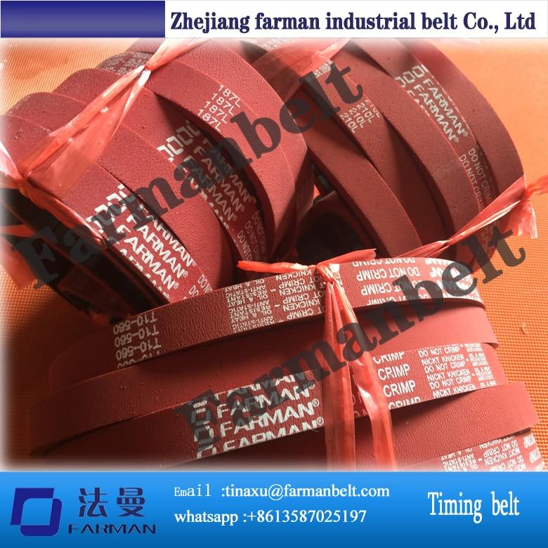 rubber belt, rubber belt+APL, red rubber timing Belt belt bb155