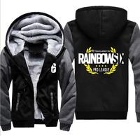 2018 Stylish new hooded jacket game Rainbow 6 RAINBOW SIX SIEGE casual zip around Hooded Cardigan