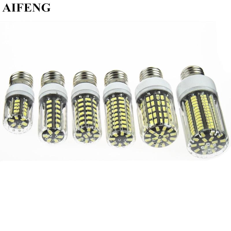 AIFENG E14 E27 B22 G9 Led Lamp SMD5733 Led Light Corn Led Bulb 30 42 64 80 108 136LEDs 220V 230V Chandelier Candle Home Lighting