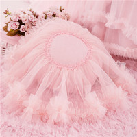 Multi Color Round Heart Pillow For Wedding Party Decoration Home Textile Ruffled Lace Flower Bed Cotton