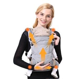 Image 4 - Honeylulu dört mevsim nefes bebek taşıyıcı gizli rüzgar geçirmez şapka Sling yenidoğan kanguru çocuk Hipsit Ergoryukzak